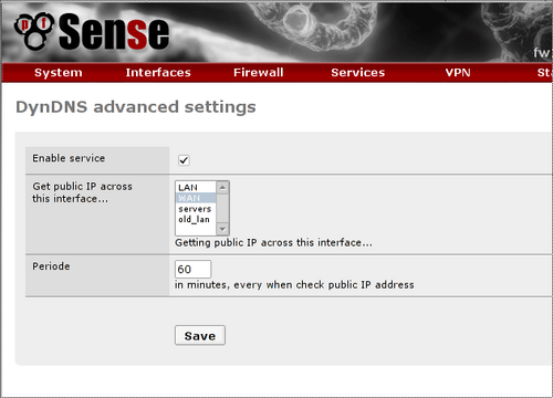 pfsense dynamic DNS advanced settings