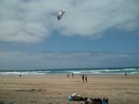 Playa de Famara - aprendiendo Kite Surfing