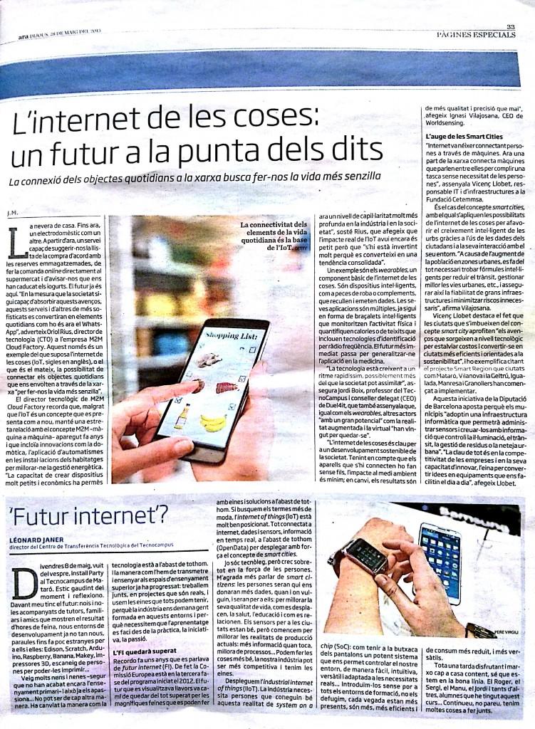 Internet de les coses un futur a la punta dels dits