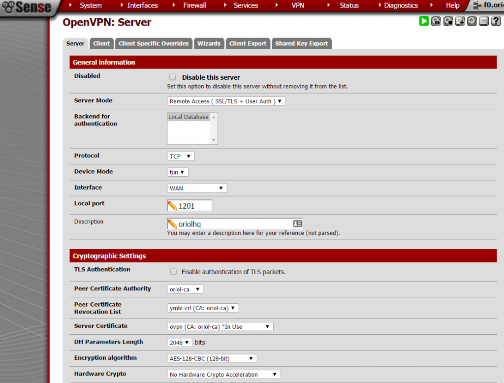 pfsense-openvpn-server-config