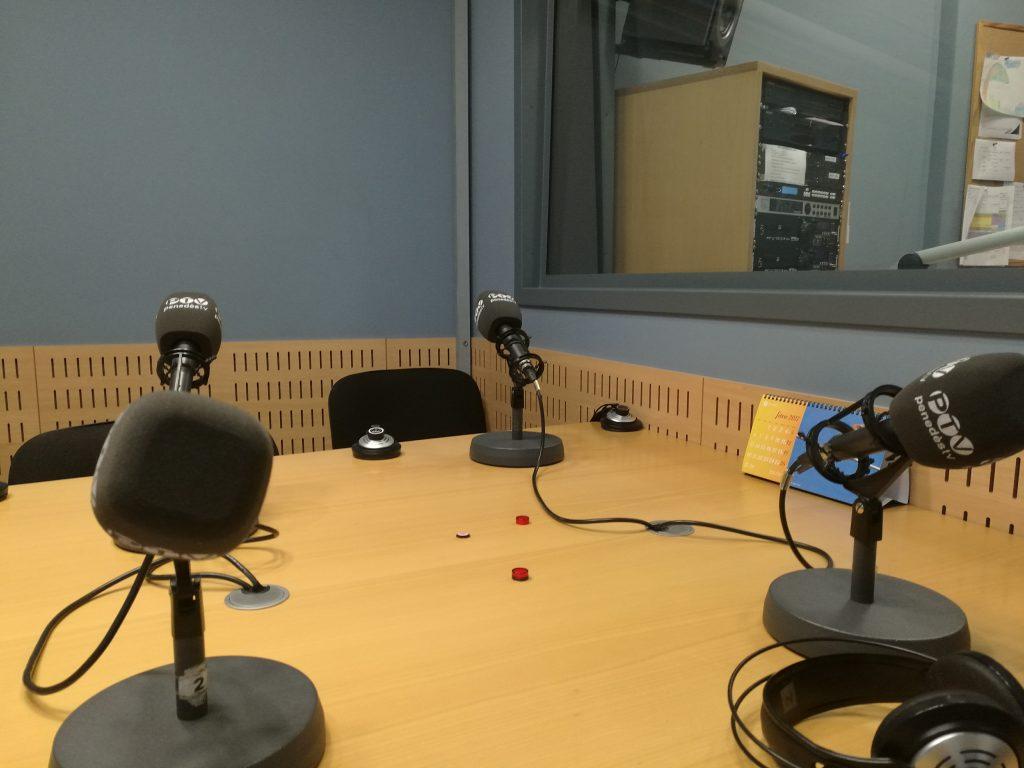 fotografia de l'estudi de radio